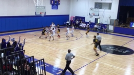 Boys basketball vs. village school1