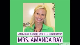 Mrs. Ray: Teacher of Distinction-- Best Practice: The Power of a Positive Learning Environment