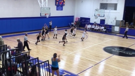 Girls basketball vs. village school 1
