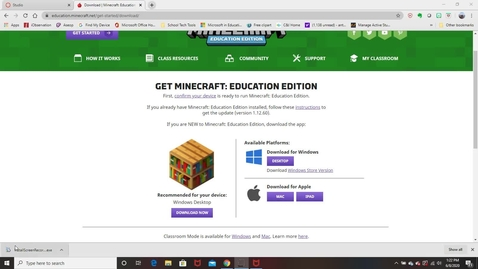 Download Minecraft from Personal Device